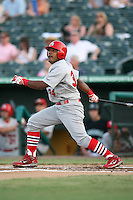 April 13, 2009:  First baseman Francisco Rivera (34) of the Palm Beach Cardinals, Florida State League Class-A affiliate of the St. Louis Cardinals, during a game at Hammond Stadium in Fort Myers, FL.  Photo by:  Mike Janes/Four Seam Images