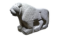 Picture & image of a Hittite Sculpture of a Lion Fron the Gate To Aslantepe, Malatya Province Turkey. Ancora Archaeological Museum.  4