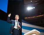 © Joel Goodman - 07973 332324 . 02/10/2016 . Birmingham , UK . Former John Lewis boss ANDY STREET speaks to the conference during the first day of the Conservative Party Conference at the International Convention Centre in Birmingham . Photo credit : Joel Goodman