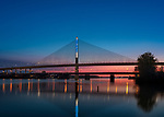Snowfall | Toledo Veteran's Glass City Skyway Bridge | HLB Lighting