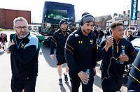 Photo: Richard Lane/Richard Lane Photography. Tigers v Wasps. Aviva Premiership. 25/03/2018. Wasps' Danny Cipriani (c) arrives for the game.