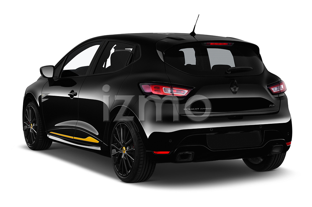 Car pictures of rear three quarter view of a 2018 Renault Clio RS Final Edition 5 Door Hatchback angular rear
