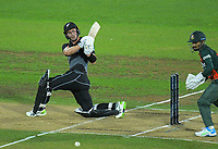 NZ's Will Young bats during the second International T20 cricket match between the New Zealand Black Caps and Bangladesh at McLean Park in Napier, New Zealand on Tuesday, 30 March 2021. Photo: Dave Lintott / lintottphoto.co.nz