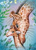 Catalea,Interlitho-Alfredo, CUTE ANIMALS, LUSTIGE TIERE, ANIMALITOS DIVERTIDOS, paintings+++++,2 giraffs,KL4622,#ac#, EVERYDAY ,puzzle,puzzles