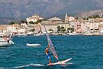 Wind Surfer, Saint Florent, Corsica, France, Mediterranean Coast, Coastal towns in Corsica,