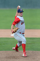 Williamsport Crosscutters pitcher Rob Marcello (35) during a game against the Batavia Muckdogs on September 2, 2013 at Dwyer Stadium in Batavia, New York.  Batavia defeated Williamsport 6-3.  (Mike Janes/Four Seam Images)