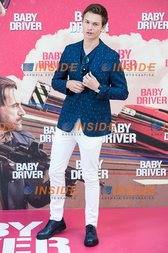 American actor Ansel Elgort attends to the presentation of the film 'Baby Driver' at Villa Magna Hotel in Madrid, June 23, 2017. Spain.<br /> (ALTERPHOTOS/BorjaB.Hojas/Insidefoto)<br /> Foto ALTERPHOTOS/BorjaB.Hojas/Insidefoto