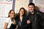 Education high school gropu of three friends posing in corridor