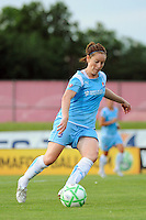 Collette McCallum (14) of Sky Blue FC. Sky Blue FC and the Washington Freedom played to a 4-4 tie during a Women's Professional Soccer match at Yurcak Field in Piscataway, NJ, on July 15, 2009.
