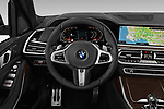 Car pictures of steering wheel view of a 2019 BMW X7 40i 5 Door SUV