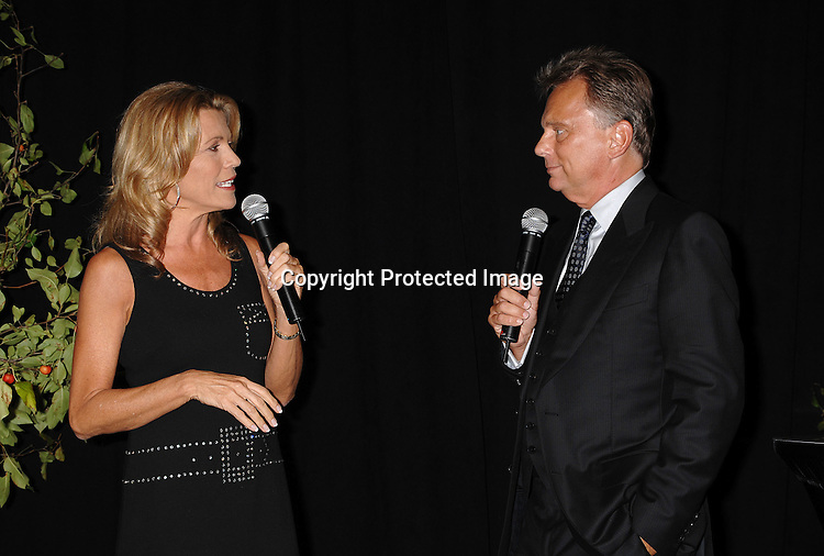 """Vanna White and Pat Sajak ..at The 25th Anniversary party for """"Wheel of Fortune"""" ..on September 27, 2007 at Radio City Music Hall, where they will tape 3  weeks of shows.....photo by Robin Platzer, Twin Images....212-935-0770"""
