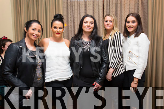 Sarah Monaghan, Cassie Leen, Amkica Scur, Ashling Casey, Sarah Hobbart enjoying the Different Cultures night in aid of the Butterfly project at Fels Point Hotel on Saturday