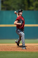 Josh Hartle (15) of Ronald Wilson Reagan HS in King, NC playing for the Arizona Diamondbacks scout team during the East Coast Pro Showcase at the Hoover Met Complex on August 4, 2020 in Hoover, AL. (Brian Westerholt/Four Seam Images)