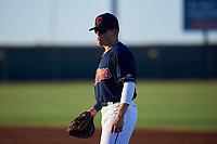 AZL Indians Red first baseman Joe Naranjo (24) during an Arizona League game against the AZL Padres 1 on June 23, 2019 at the Cleveland Indians Training Complex in Goodyear, Arizona. AZL Indians Red defeated the AZL Padres 1 3-2. (Zachary Lucy/Four Seam Images)