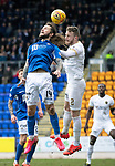 St Johnstone v Livingston…..07.03.20   McDiarmid Park  SPFL<br />Stevie May and Nicky Devlin<br />Picture by Graeme Hart.<br />Copyright Perthshire Picture Agency<br />Tel: 01738 623350  Mobile: 07990 594431