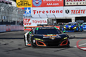 2017 IMSA WeatherTech SportsCar Championship<br /> BUBBA burger Sports Car Grand Prix at Long Beach<br /> Streets of Long Beach, CA USA<br /> Saturday 8 April 2017<br /> 86, Acura, Acura NSX, GTD, Oswaldo Negri Jr., Jeff Segal<br /> World Copyright: Richard Dole/LAT Images<br /> ref: Digital Image RD_LB17_380