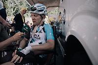 Jan Bakelants (BEL/AG2R-LaMondiale) interviewed after having spent the whole stage in the breakaway<br /> <br /> 104th Tour de France 2017<br /> Stage 5 - Vittel › La Planche des Belles Filles (160km)