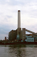 London:  Deptford Power Station, just west of Greenwich.  Photo '90.