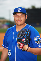 Biloxi Shuckers pitcher Luis Ortiz (35) poses for a photo before a game against the Jackson Generals on April 23, 2017 at MGM Park in Biloxi, Mississippi.  Biloxi defeated Jackson 3-2.  (Mike Janes/Four Seam Images)