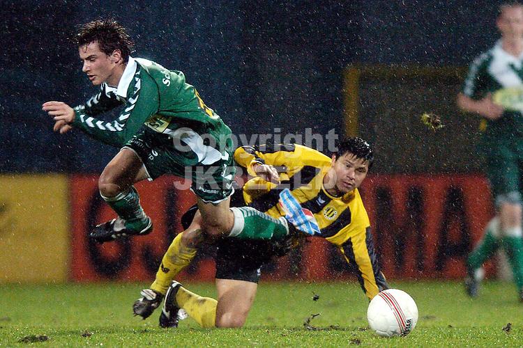 voetbal bv veendam - fc zwolle jupiler league 18-01-2008 overtreding cruz vicente.fotograaf Jan Kanning