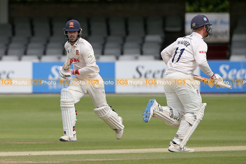 Shane Snater (L) and Simon Harmer add to the Essex total during Essex CCC vs Nottinghamshire CCC, LV Insurance County Championship Group 1 Cricket at The Cloudfm County Ground on 6th June 2021