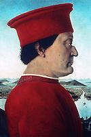 Urbino:  Pietro Della Francesca, Duke of Urbino.   1410/20-1492.  Reference only.