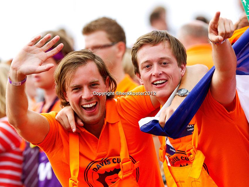 15-09-12, Netherlands, Amsterdam, Tennis, Daviscup Netherlands-Suisse, Doubles,Dutch supporters