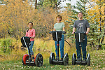 Folks of all ages enjoy the freedom and control of riding Segways through fall colors in Estes Park , Colorado, high in the Rocky Mountains. Segways provided Segway of Northern Colorado