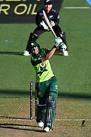 20th December 2020; Hamilton, New Zealand;  Haider Ali, New Zealand Black Caps versus Pakistan, International Twenty20 Cricket. Seddon Park, Hamilton, New Zealand.