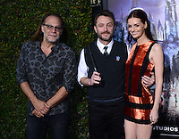 Chris Hardwick + Lydia Hearst + Greg Nicoterro @ the VIP opening for The Wizarding World of Harry Potter held @ the Universal Studiio Hollywood.<br /> April 5, 2016