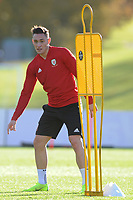 Connor Roberts of Wales in action during the Wales Training Session at The Vale Resort in Cardiff, Wales, UK. Monday 12 November 2018