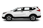 Car Driver side profile view of a 2019 Honda CR-V LX 5 Door SUV Side View