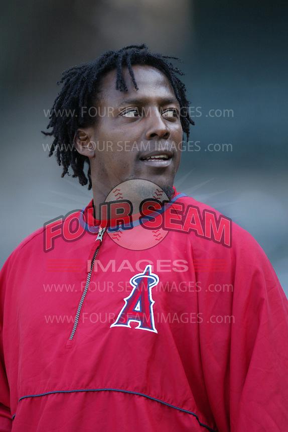 Vladimir Guerrero of the Los Angeles Angels during a 2007 MLB season game at Angel Stadium in Anaheim, California. (Larry Goren/Four Seam Images)
