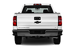 Straight rear view of 2018 Chevrolet Silverado-1500 LT-Crew 4 Door Pick-up Rear View  stock images