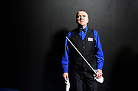 CHINA. Beijing. English snooker player Dave Harold backstage just before going to play at the China Snooker Open. Snooker is a cue sport played on a large table measuring 3.6 metres x 1.8 metres. Originating in India in the late 19th Century where it was invented by British Army officers, the game has been a mainstay in British sport over the past few decades. Recently however, popularity of the sport has declined as the sport struggles to compete with other popular sports. The sport is however flourishing in countries such as China, where it is now the second most popular sport, behind Basketball. In a country where the  players are treated like movie-stars, China may be the great hope for the sports recovery. 2009