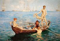 """Tuke, Henry Scott (1858–1929), """"August Blue,"""" 1893"""