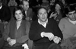 CARLO VERDONE CON LA MOGLIE GIANNA SCARPELLI <br /> ROMA 1980
