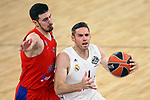 Turkish Airlines Euroleague.<br /> Final Four - Vitoria-Gasteiz 2019.<br /> Semifinals.<br /> CSKA Moscow vs Real Madrid: 95-90.<br /> Nando de Colo vs Fabien Causeur.