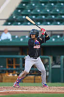 Jupiter Hammerheads Victor Mesa Jr. (10) bats during a game against the Lakeland Flying Tigers on July 30, 2021 at Joker Marchant Stadium in Lakeland, Florida.  (Mike Janes/Four Seam Images)