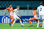 Adelaide United Midfielder Riley Patrick Mcgree (L) in action during the AFC Champions League 2017 Group Stage - Group H match between Jeju United FC (KOR) vs Adelaide United (AUS) at the Jeju World Cup Stadium on 11 April 2017 in Jeju, South Korea. Photo by Marcio Rodrigo Machado / Power Sport Images