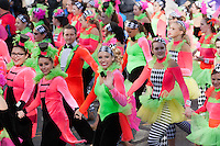 NEW YORK - NOVEMBER 24:  Members of the Spirit of America Dance Team perform during the annual Macy's Thanksgiving Day Parade on Thursday, November 24, 2011.