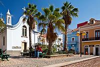 Cape Verde, S?o Vicente, Mindelo, Barlavento islands, Ilhas do Barlavento, Pracinha de Igreja with Church of Nossa Senhora da Luz in Mindelo, S?o Vicente island