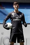 Real Madrid's new player Thibaut Courtois during his official presentation. August 9, 2018. (ALTERPHOTOS/Acero)