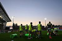 14th September 2020; Kingsholm Stadium, Gloucester, Gloucestershire, England; English Premiership Rugby, Gloucester versus Harlequins; Harlequins players warms up