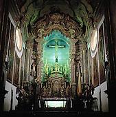 Congonhas do Campo, Brazil. Rococo interior of the Basilica of Bom Jesus do Matozinhos; Minas Gerais State, Brazil.