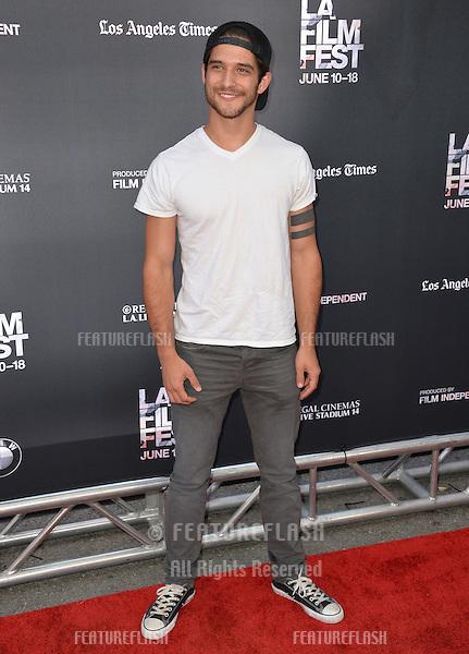 "Tyler Posey at the LA Film Festival premiere of MTV's ""Scream"" at the Regal Cinema LA Live. <br /> June 14, 2015  Los Angeles, CA<br /> Picture: Paul Smith / Featureflash"