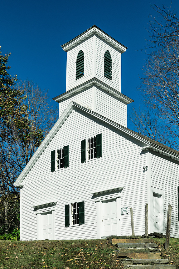 Green River Church, 1838, Guilford, Vermont, USA.