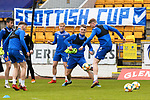 St Johnstone Training...21.05.21<br />James Brown, Jason Kerr, Ali McCann, Jamie McCart and Callum Booth pictured during training at McDiarmid Park this morning ahead of tomorrow's Scottish Cup Final against Hibs.<br />Picture by Graeme Hart.<br />Copyright Perthshire Picture Agency<br />Tel: 01738 623350  Mobile: 07990 594431