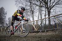 Belgian U23 CX Champion Thijs Aerts (BEL/U23/Telenet-Fidea) leading the race early on<br /> <br /> GP Sven Nys 2017