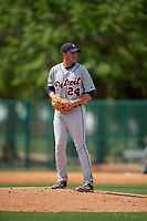 Detroit Tigers pitcher Jason Foley (24) during a minor league Spring Training game against the Atlanta Braves on March 25, 2017 at the ESPN Wide World of Sports Complex in Orlando, Florida.  (Mike Janes/Four Seam Images)